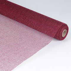Natural Cotton Jute Burgundy ( 21 Inch x 6 Yards )