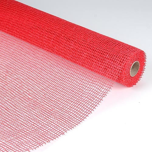 Natural Cotton Jute Red ( 21 Inch x 6 Yards )