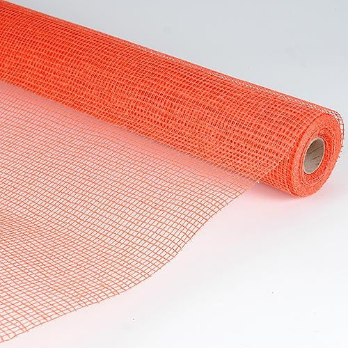 Natural Cotton Jute Orange ( 21 Inch x 6 Yards )