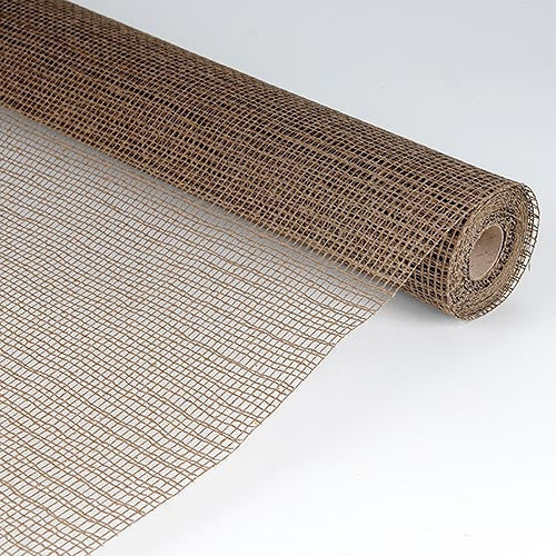 Natural Cotton Jute Chocolate Brown ( 21 Inch x 6 Yards )
