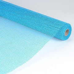 Natural Cotton Jute Turquoise ( 21 Inch x 6 Yards )