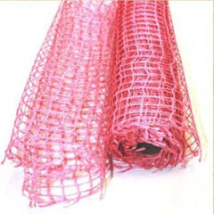 Natural Jute Mesh Light Pink ( 21 Inch x 6 Yards )