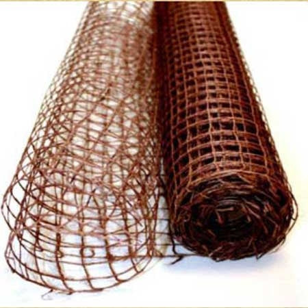 Natural Jute Mesh Chocolate Brown ( 21 Inch x 6 Yards )