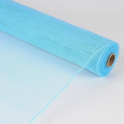 Floral Mesh Wrap Solid Color Light Blue ( 10 Inch x 10 Yards ) -