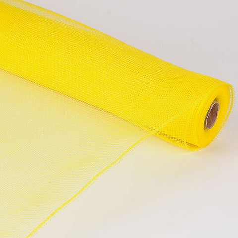 Floral Mesh Wrap Solid Color Yellow ( 10 Inch x 10 Yards ) -