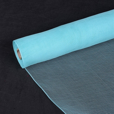 Floral Mesh Wrap Solid Color Aqua Blue ( 10 Inch x 10 Yards )