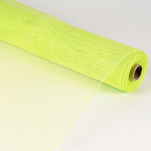 Floral Mesh Wrap Solid Color Apple Green ( 21 Inch x 10 Yards )