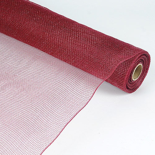 Floral Mesh Wrap Solid Color Burgundy ( 21 Inch x 10 Yards )