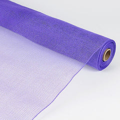 Floral Mesh Wrap Solid Color Purple ( 21 Inch x 10 Yards )