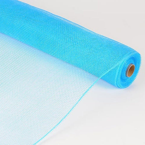 Floral Mesh Wrap Solid Color Turquoise ( 21 Inch x 10 Yards )