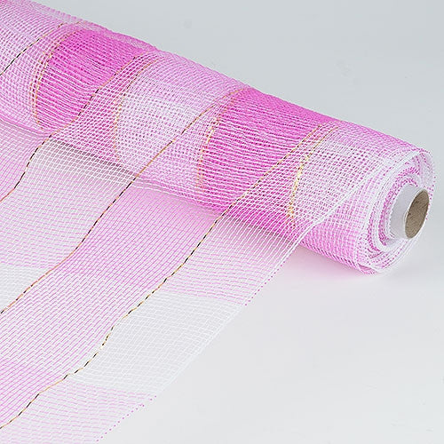 Christmas Mesh Wraps Fuchsia ( 21 Inch x 10 Yards )