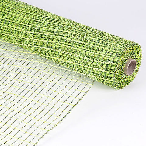 Floral Oasis Mesh Wrap Apple Green ( 21 Inch x 10 Yards ) -
