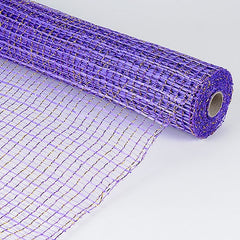 Floral Oasis Mesh Wrap Purple ( 21 Inch x 10 Yards )