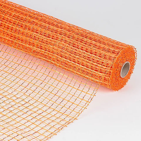 Floral Oasis Mesh Wrap Orange ( 21 Inch x 10 Yards )