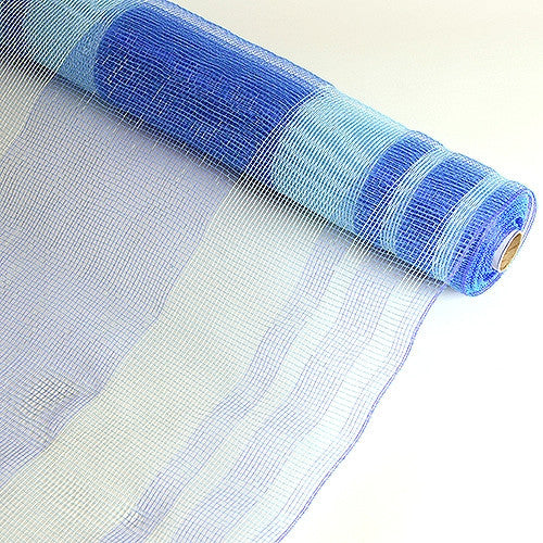 Deco Mesh Striped Design Blue ( 21 Inch x 10 Yards )