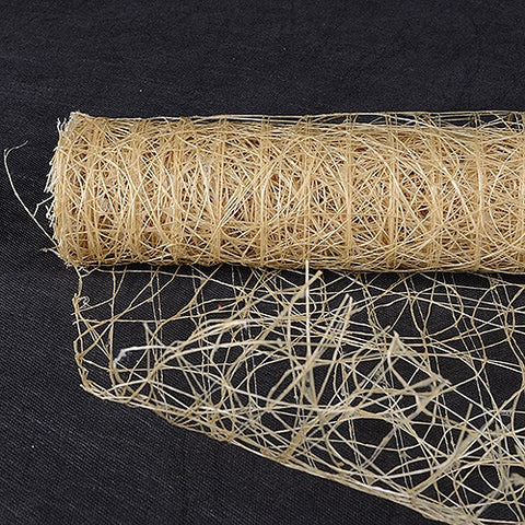Sisal Mesh Wrap Natural ( 21 Inch x 6 Yards ) -