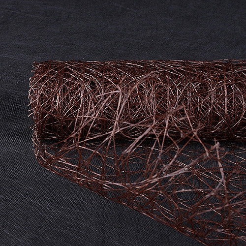 Sisal Mesh Wrap Chocolate Brown ( 21 Inch x 6 Yards )