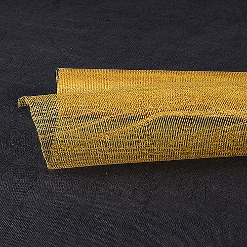 Metallic Thread Mesh Wrap Gold ( 21 Inch x 6 Yards )
