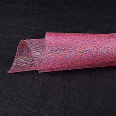 Metallic Thread Mesh Wrap Shocking Pink ( 21 Inch x 6 Yards )