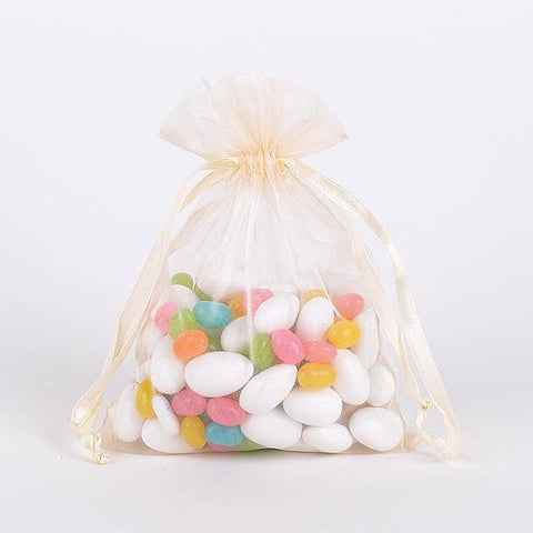 Organza Bags Ivory ( 3x4 Inch - 10 Bags ) -