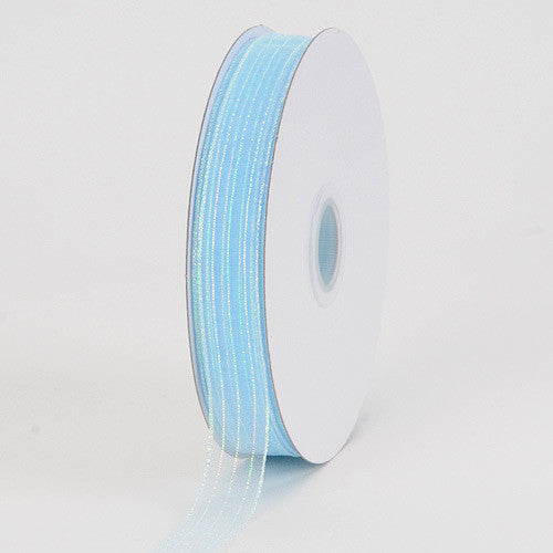 Corsage Ribbon Light Blue Iridescent ( W: 3/8 inch | L: 50 Yards )