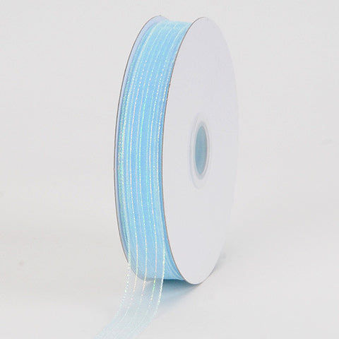 Corsage Ribbon Light Blue Iridescent ( W: 3/8 inch | L: 50 Yards ) -