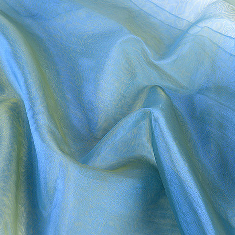 Two Tone Organza Overlays Blue Green ( W: 28 inch | L: 108 Inches )- Ribbons Cheap