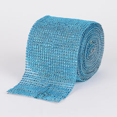 Bling Diamond Rolls Turquoise ( 1-1/2 Inch x 10 Yards )