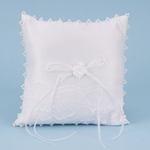 Ring Bearer Pillow White ( 7 Inch x 7 Inch ) -