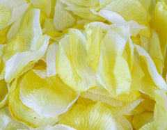 Silk Flower Petal Yellow ( 400 Petals )