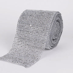 Bling Diamond Rolls Silver ( 1-1/2 Inch x 10 Yards )