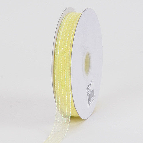 Corsage Ribbon Baby Maize Iridescent ( W: 3/8 inch | L: 50 Yards )