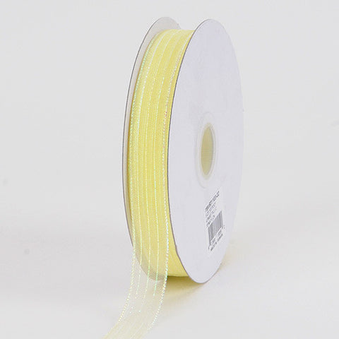Corsage Ribbon Baby Maize Iridescent ( W: 3/8 inch | L: 50 Yards ) -