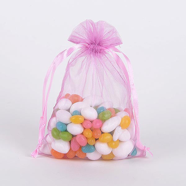 Organza Bags Light Pink ( 3x4 Inch - 10 Bags )
