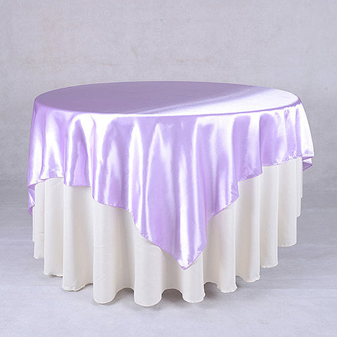Lavender  72 x 72 Satin Table Overlays  ( 72 x 72 Inch )