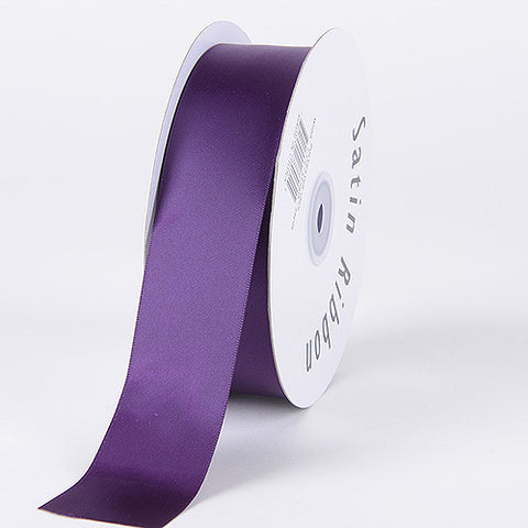 Satin Ribbon Single Face Plum ( 1/8 inch | 100 Yards ) -