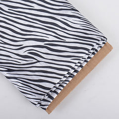 Animal Printed Satin Fabrics White ( W: 58 inch | L: 10 Yards )