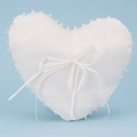 Ring Bearer Pillow White ( 8.5 Inch x 10 Inch ) -