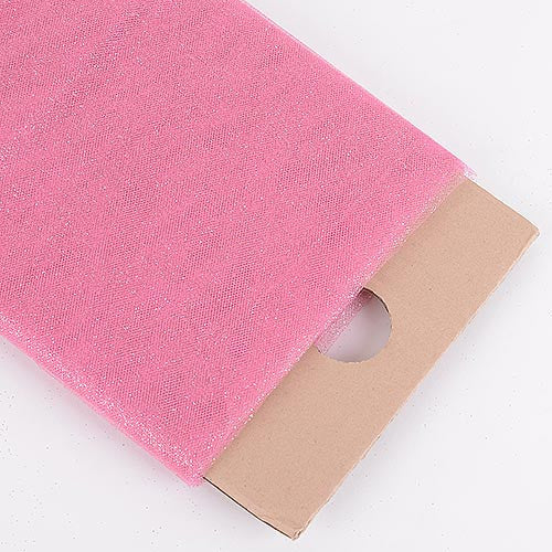 Shocking Pink Premium Glitter Tulle Fabric ( W: 6 inch | L: 25 Yards )