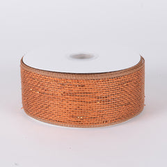 Metallic Deco Mesh Ribbons Copper ( 2.5 inch x 25 yards )