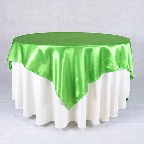 Apple  60 x 60 Satin Table Overlays  ( 60 x 60 Inch )- Ribbons Cheap