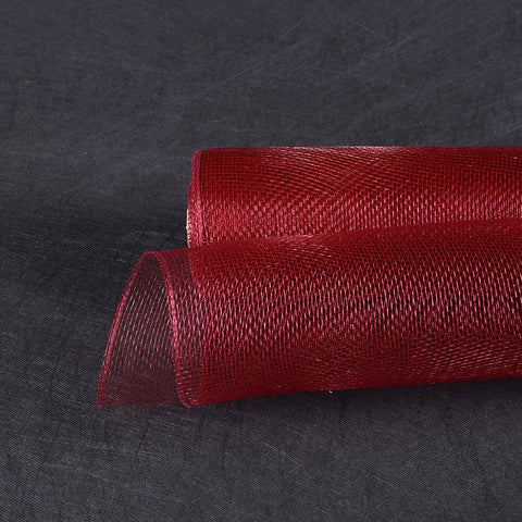Floral Mesh Wrap Solid Color Burgundy ( 10 Inch x 10 Yards ) -