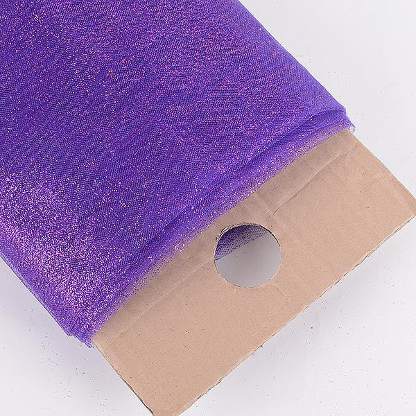 Purple Premium Glitter Tulle Fabric ( W: 6 inch | L: 25 Yards )