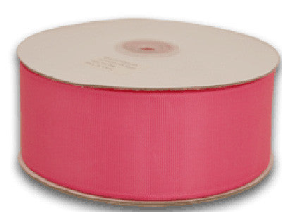 Grosgrain Ribbon Solid Color 25 Yards Hot Pink ( W: 5/8 inch | L: 25 Yards )