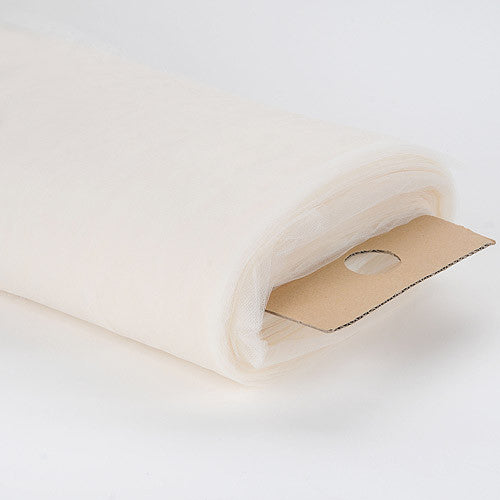 108 Inch Premium Tulle Fabric Bolt Ivory ( W: 108 inch | L: 50 Yards )