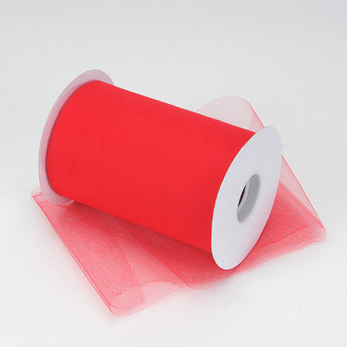 Red Premium Tulle 100 Yards ( W: 6 inch | L: 100 Yards )