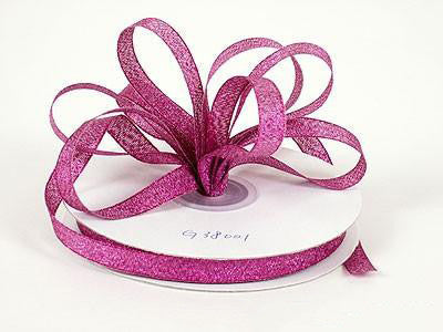 Metallic Ribbon Azalea ( W: 1/4 inch | L: 25 Yards ) - MY DIY Fabric
