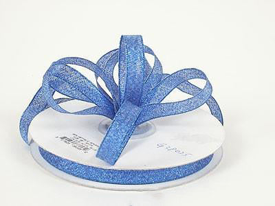 Metallic Ribbon Royal Blue ( W: 1/4 inch | L: 25 Yards ) - MY DIY Fabric