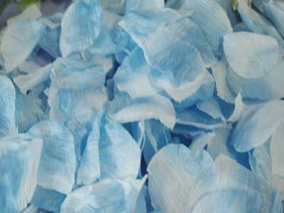 Silk Flower Petal Light Blue ( 400 Petals )