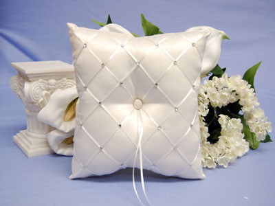 Ring Bearer Pillow Ivory ( 7 x7 Inch )